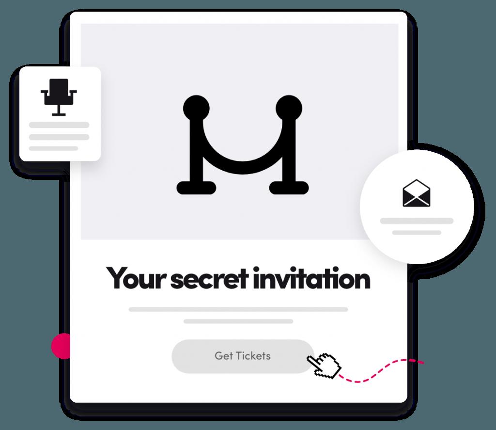 Gold Club Invitation Illustration