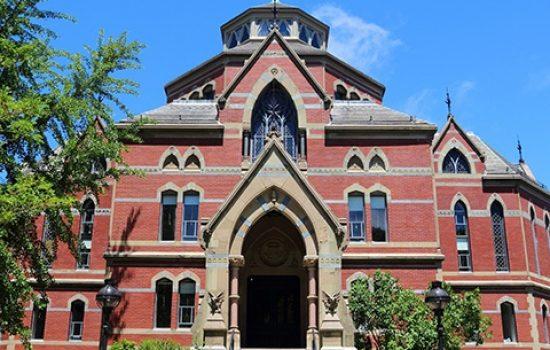 Brown University building seen from the front door