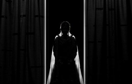 Female performer in a veil