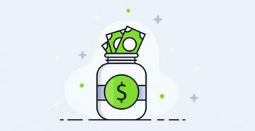 cartoon of a money jar